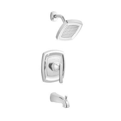 Edgemere 2.5 GPM 1-Handle Tub and Shower Faucet Trim Kit in Polished Chrome (Valve Not Included)