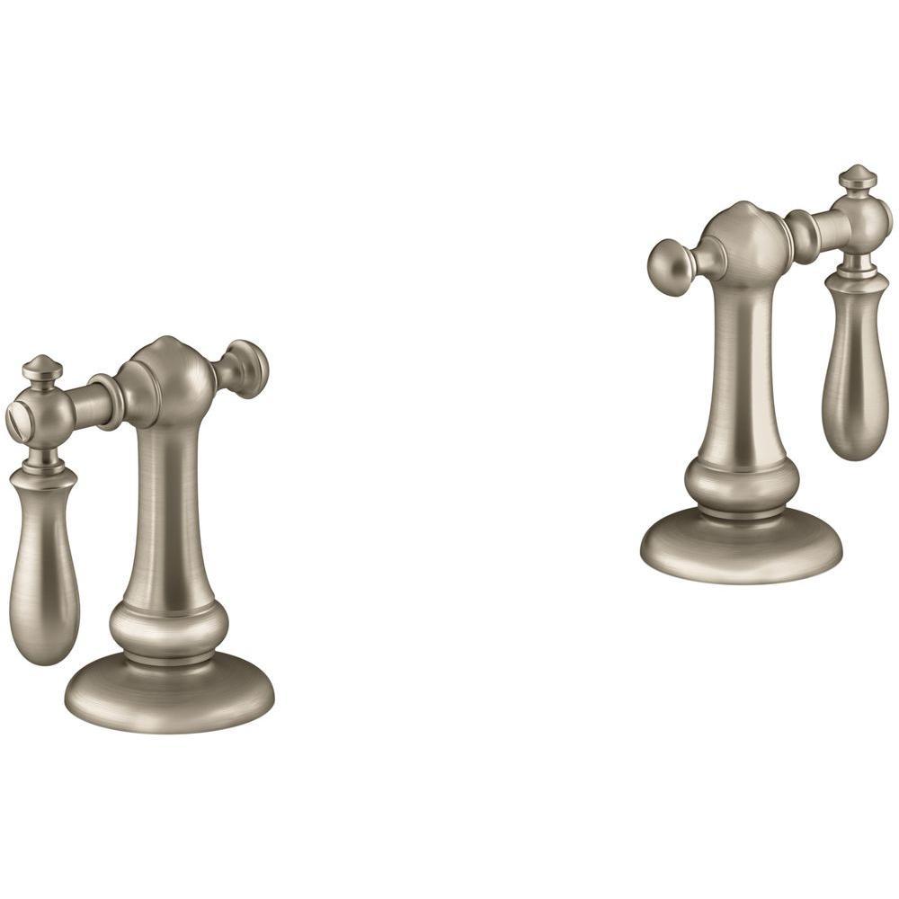 Kohler artifacts bathroom sink swing lever handles in for Vibrant brushed bronze bathroom lighting