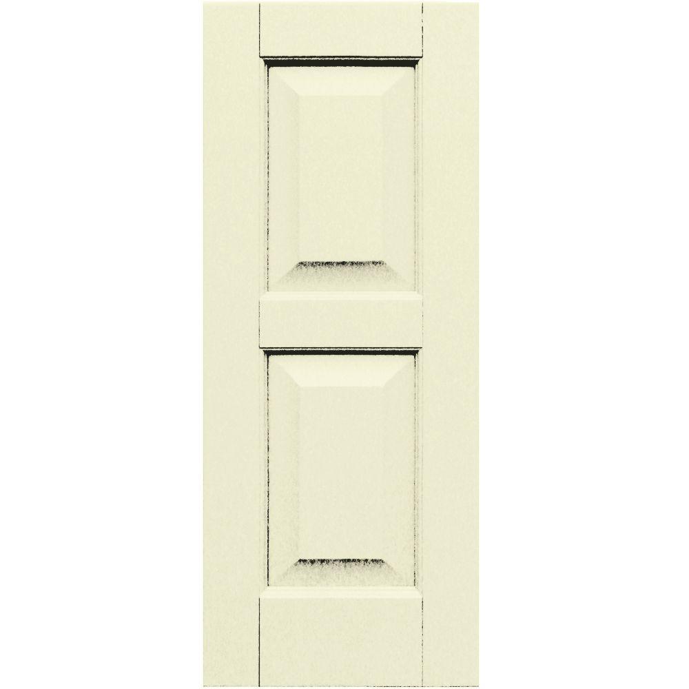 Winworks Wood Composite 12 in. x 30 in. Raised Panel Shutters Pair #651 Primed/Paintable