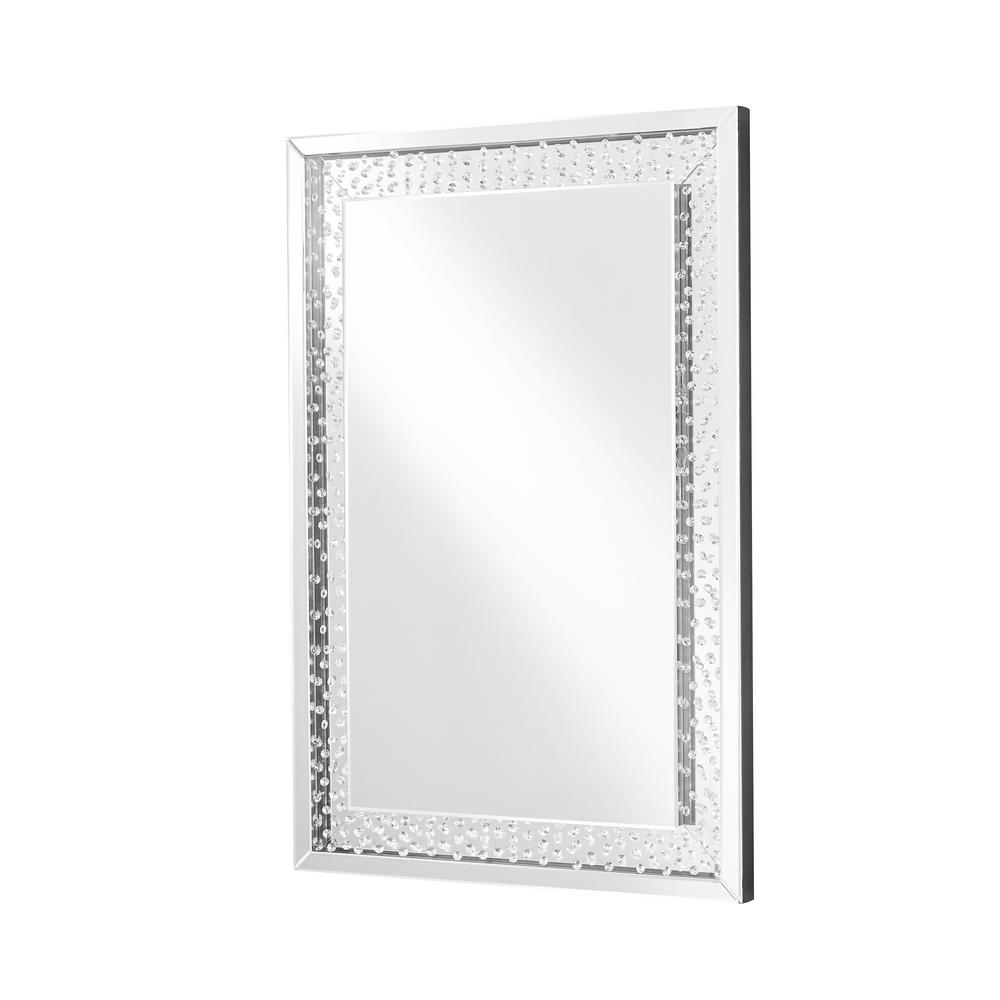 Emory 31 in. Contemporary Rectangle Mirror with Clear MDF Frame; Rectangle