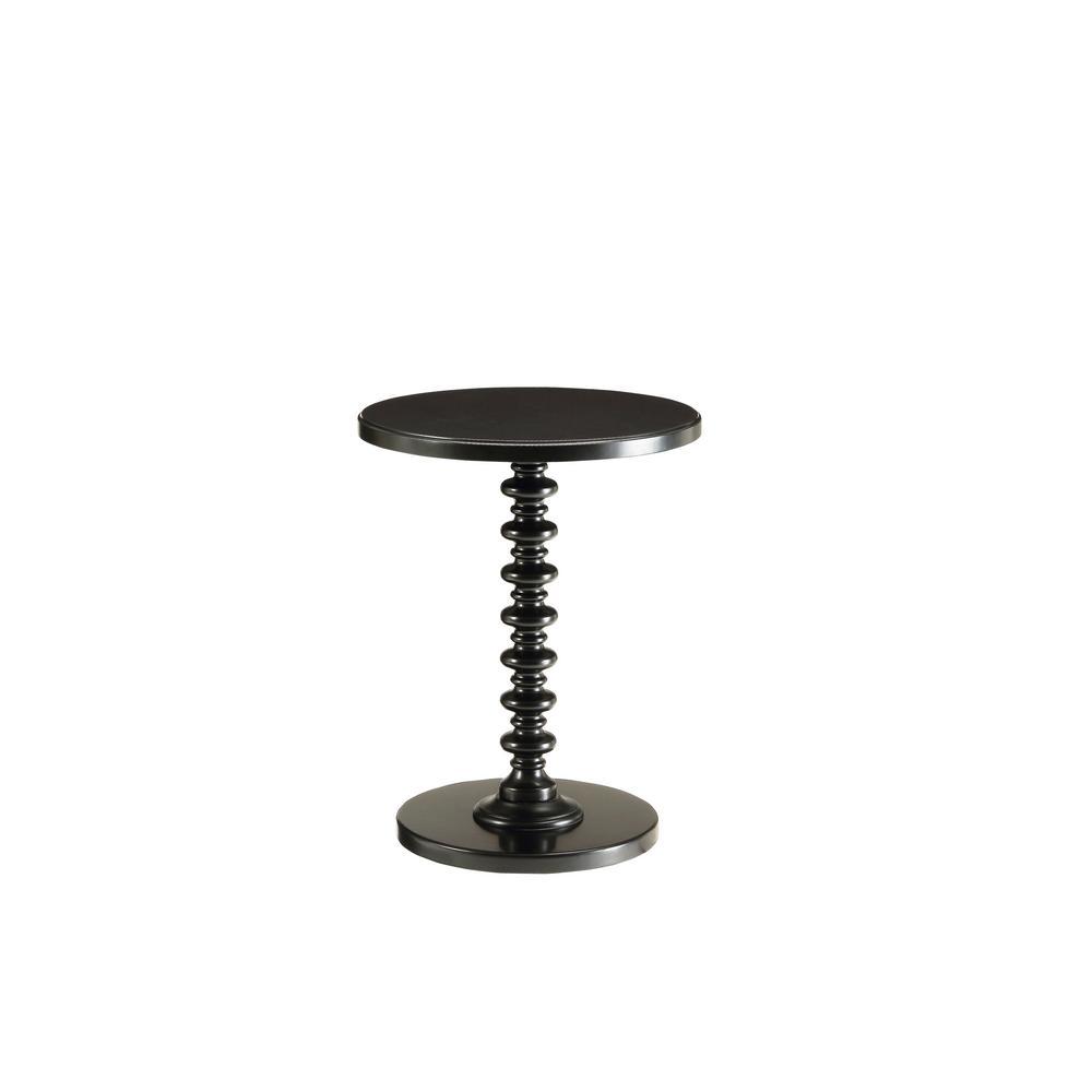 Amelia Black Solid Wood Leg Side Table