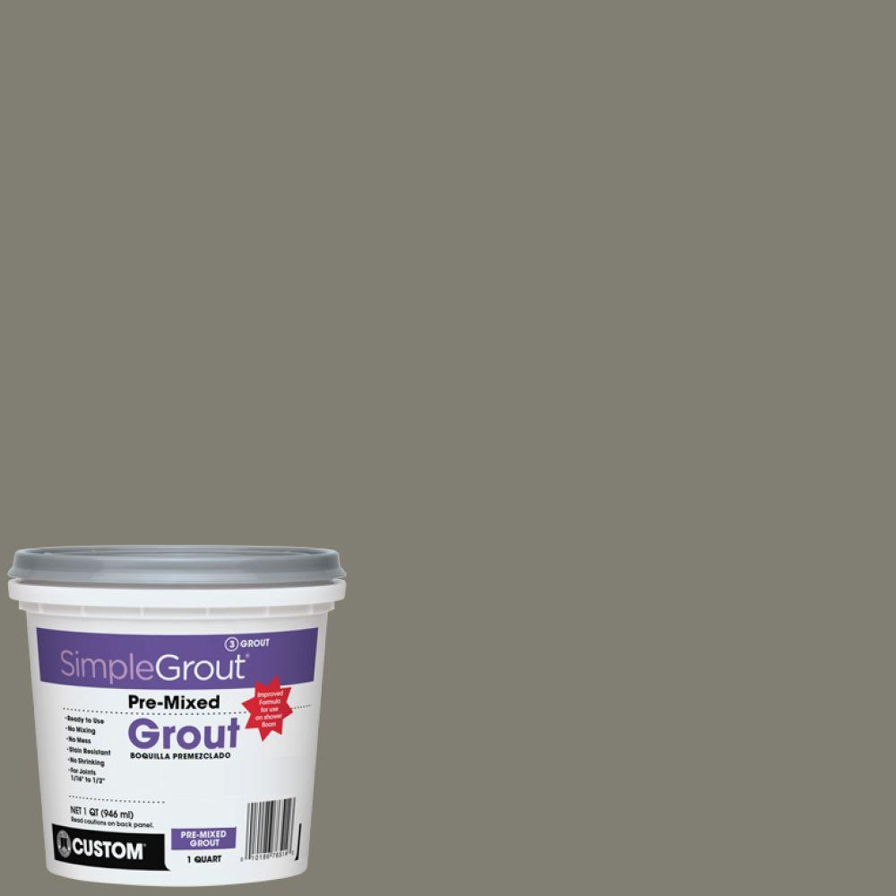 custom building products simplegrout 09 natural gray 1 qt pre mixed grout pmg09qt the home depot. Black Bedroom Furniture Sets. Home Design Ideas