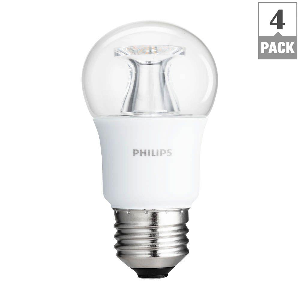 High Quality Philips 40 Watt Equivalent A15 Dimmable LED Light Bulb Soft White Clear  Multipurpose With Warm Pictures