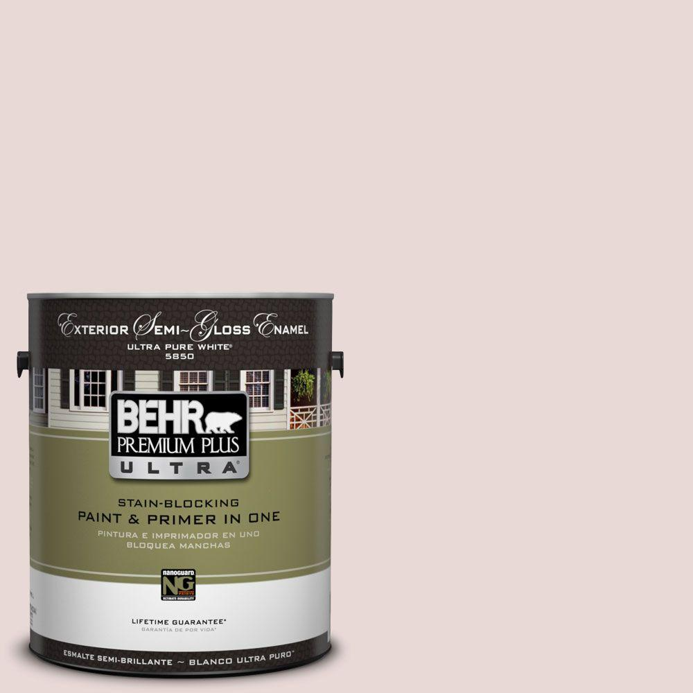 BEHR Premium Plus Ultra 1-Gal. #UL110-15 Vienna Lace Semi-Gloss Enamel Exterior Paint-DISCONTINUED