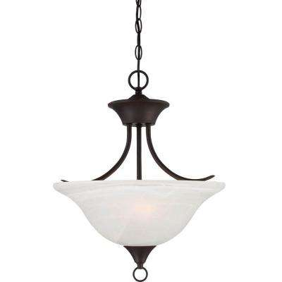 Lenor 2-Light Antique Bronze Incandescent Ceiling Chandelier