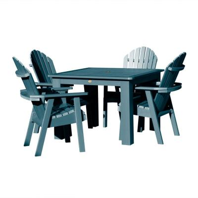 Hamilton Nantucket Blue 5-Piece Recycled Plastic Square Outdoor Dining Set