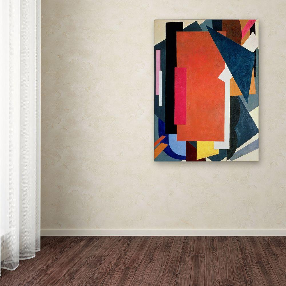 Trademark 47 in. x 35 in. Abstract III Canvas Art