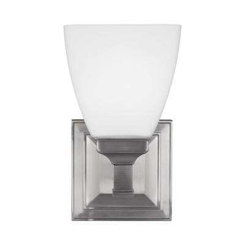 Putnam 1-Light Satin Nickel Wall Bath Light