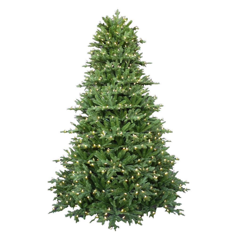Fraser Fir Christmas Trees: 7.5 Ft. Pre-Lit LED Royal Fraser Fir Artificial Christmas