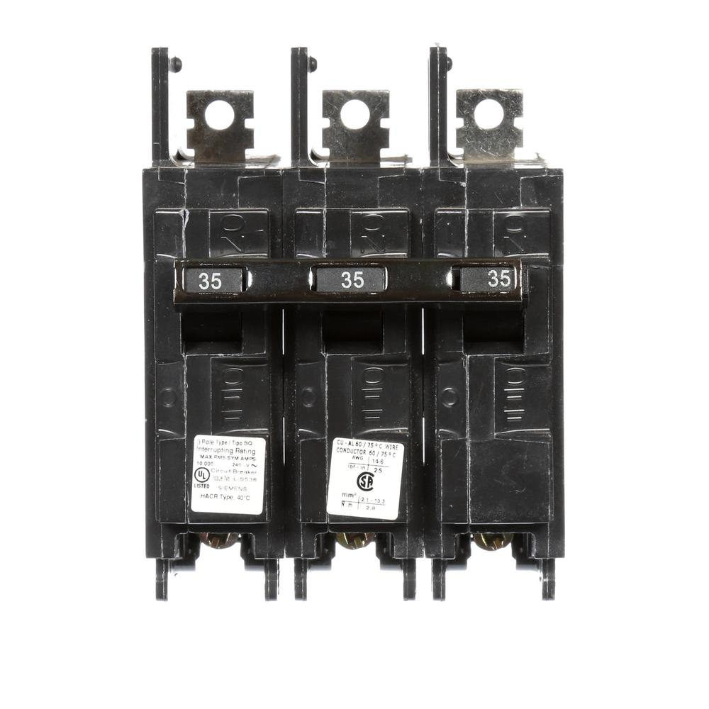 Siemens 60 Amp Three-Pole Type QP Circuit Breaker-Q360 - The Home Depot