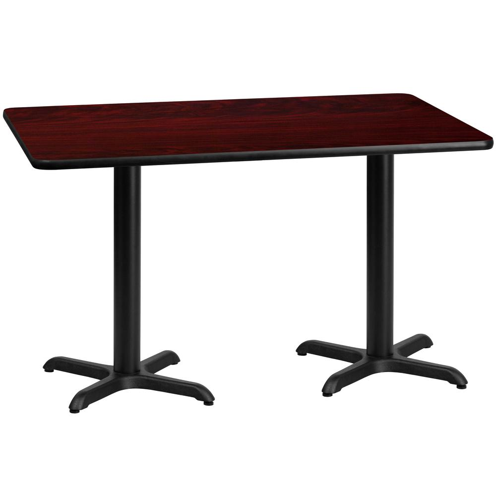 Flash Furniture 30 In X 60 Rectangular Mahogany Laminate Table Top With 22