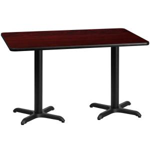 30 In. X 60 In. Rectangular Mahogany Laminate Table Top With 22 In.