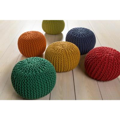 Alexia Black Accent Pouf