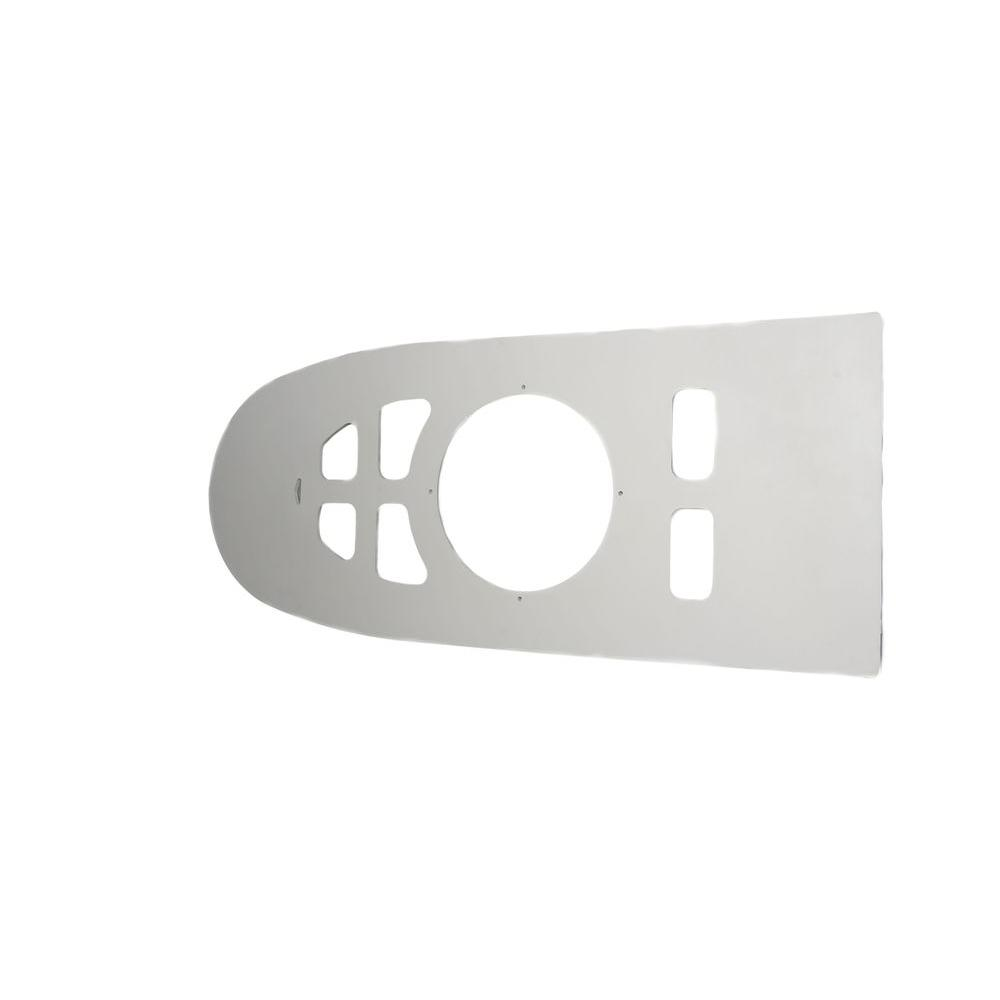 JAG PLUMBING PRODUCTS Toilet Floor Plate, White