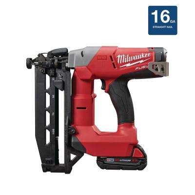 M18 FUEL 18-Volt 16-Gauge Straight Finish Nailer Kit
