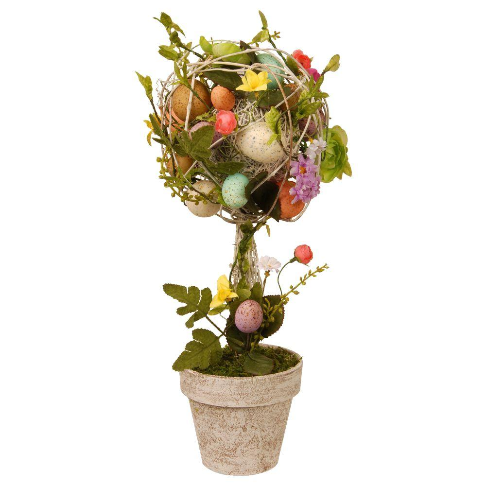 17 in. Garden Accents Easter Egg Topiary