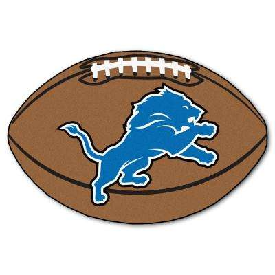 NFL Detroit Lions Brown 1 ft. 10 in. x 2 ft. 11 in. Specialty Accent Rug