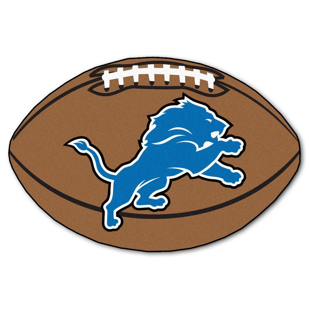 Fanmats Nfl Detroit Lions Photorealistic 20 5 In X 32 5 In Football Mat