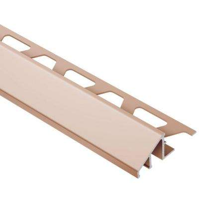 Reno-U Satin Copper Anodized Aluminum 1/2 in. x 8 ft. 2-1/2 in. Metal Reducer Tile Edging Trim