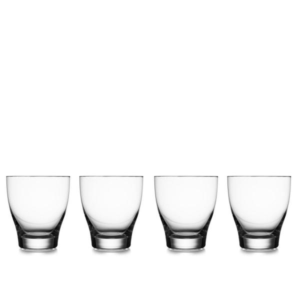 Nambe Vie 9 oz. Double Old Fashioned Glass (4-Pack)