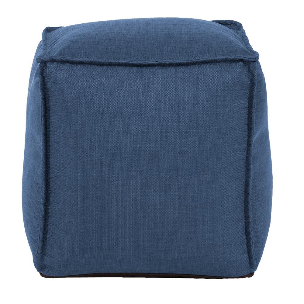 Square Pouf Sterling Indigo Blue Ottoman