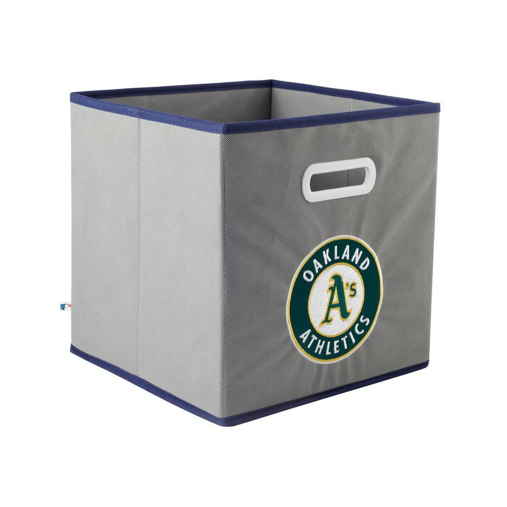 MyOwnersBox MLB STOREITS Oakland Athletics 10-1/2 in. x 10-1/2 in. x 11 in. Grey Fabric Storage Drawer