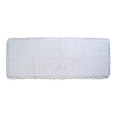 Crochet 22 in. x 60 in. Bath Runner in White