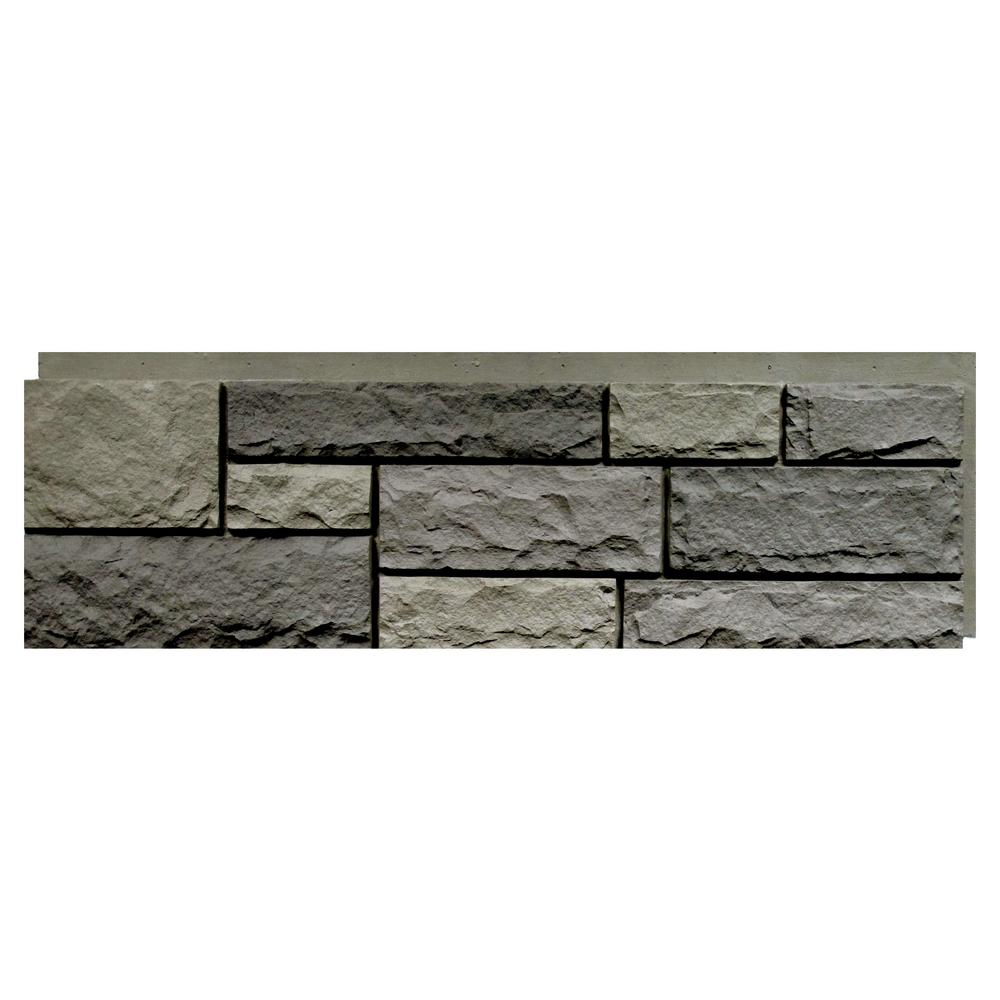 Random Rock Mountain Shadow 15.5 in. x 48 in. Faux Stone