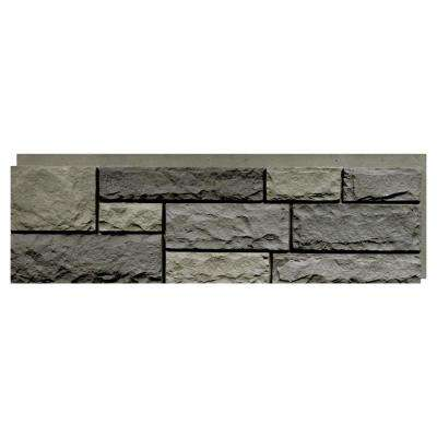 Random Rock Mountain Shadow 15.5 in. x 48 in. Faux Stone Siding Panel (4-Pack)