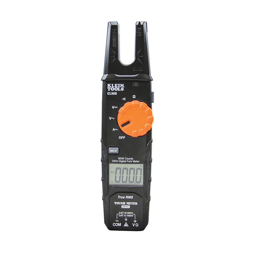 Klein Tools 200 Amp AC Open Jaw Fork Meter CL360 Deals