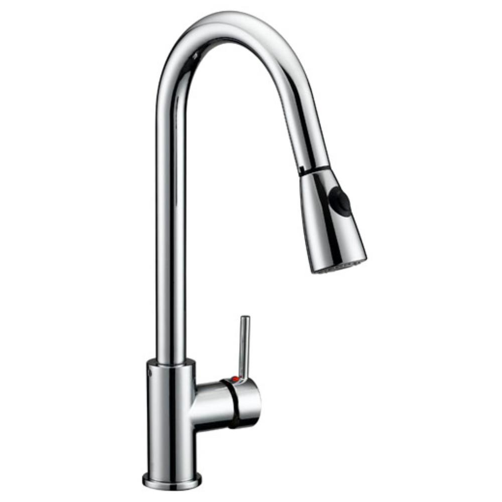Captivating Design House Eastport Single Handle Pull Down Sprayer Kitchen Faucet In  Polished Chrome