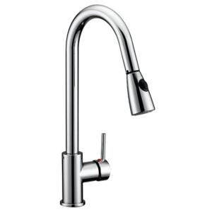 Eastport Single Handle Pull Down Sprayer Kitchen Faucet In Polished Chrome