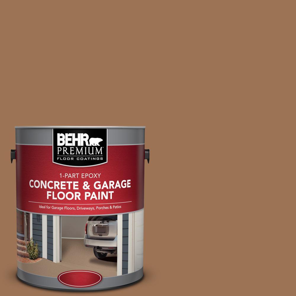 1 gal. #S240-6 Ranch Brown 1-Part Epoxy Satin Interior/Exterior Concrete and Garage Floor Paint