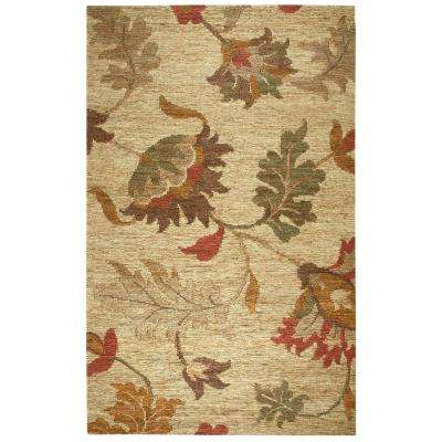 Whittier Natural, Rust and Sage Jute 8 ft. x 10 ft. Indoor Area Rug