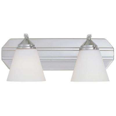 Holland Collection 2-Light Satin Platinum Wall Mount Vanity Light