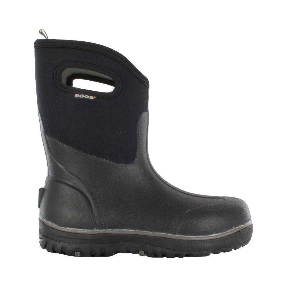BOGS Classic Ultra Mid Men 10 in. Size 12 Black Rubber with Neoprene  Waterproof Boot 112180f41095