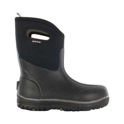 Classic Ultra Mid Men 10 in. Size 12 Black Rubber with Neoprene Waterproof Boot