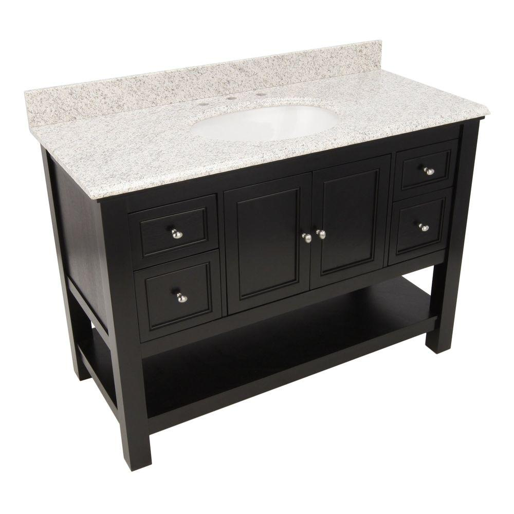 Gazette 49 in. W x 22 in. D Bath Vanity in