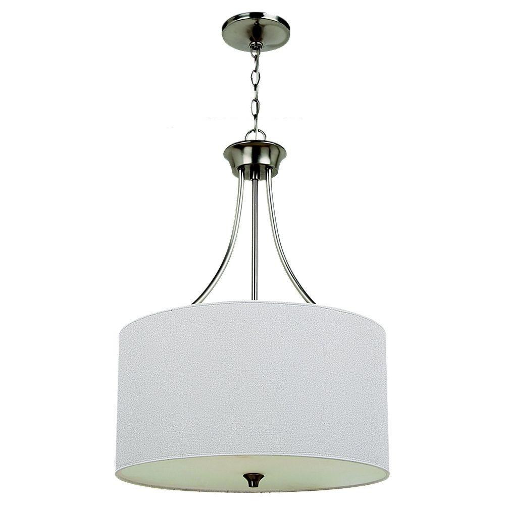 Sea Gull Lighting Stirling 3-Light Brushed Nickel Pendant
