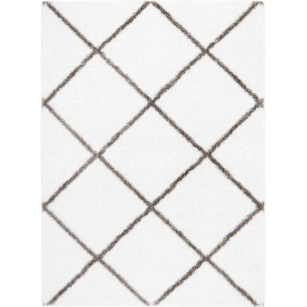 Soho Ivory/Gray 5 ft. x 7 ft. Indoor Area Rug