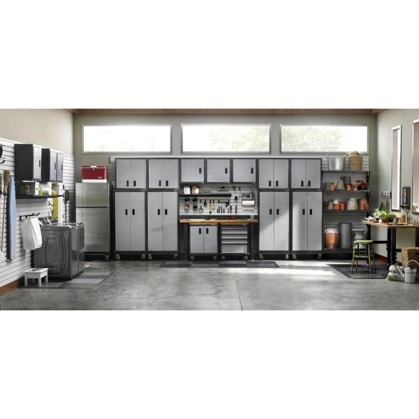 Gladiator Premier Series Pre Assembled 24 In H X 24 In W X 12 In D Steel Garage Wall Cabinet In Silver Tread Gawg241drg The Home Depot