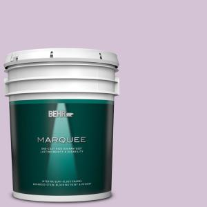 Behr Marquee 5 Gal S550 3 Chivalrous One Coat Hide Semi Gloss Enamel Interior Paint And Primer In One 345005 The Home Depot