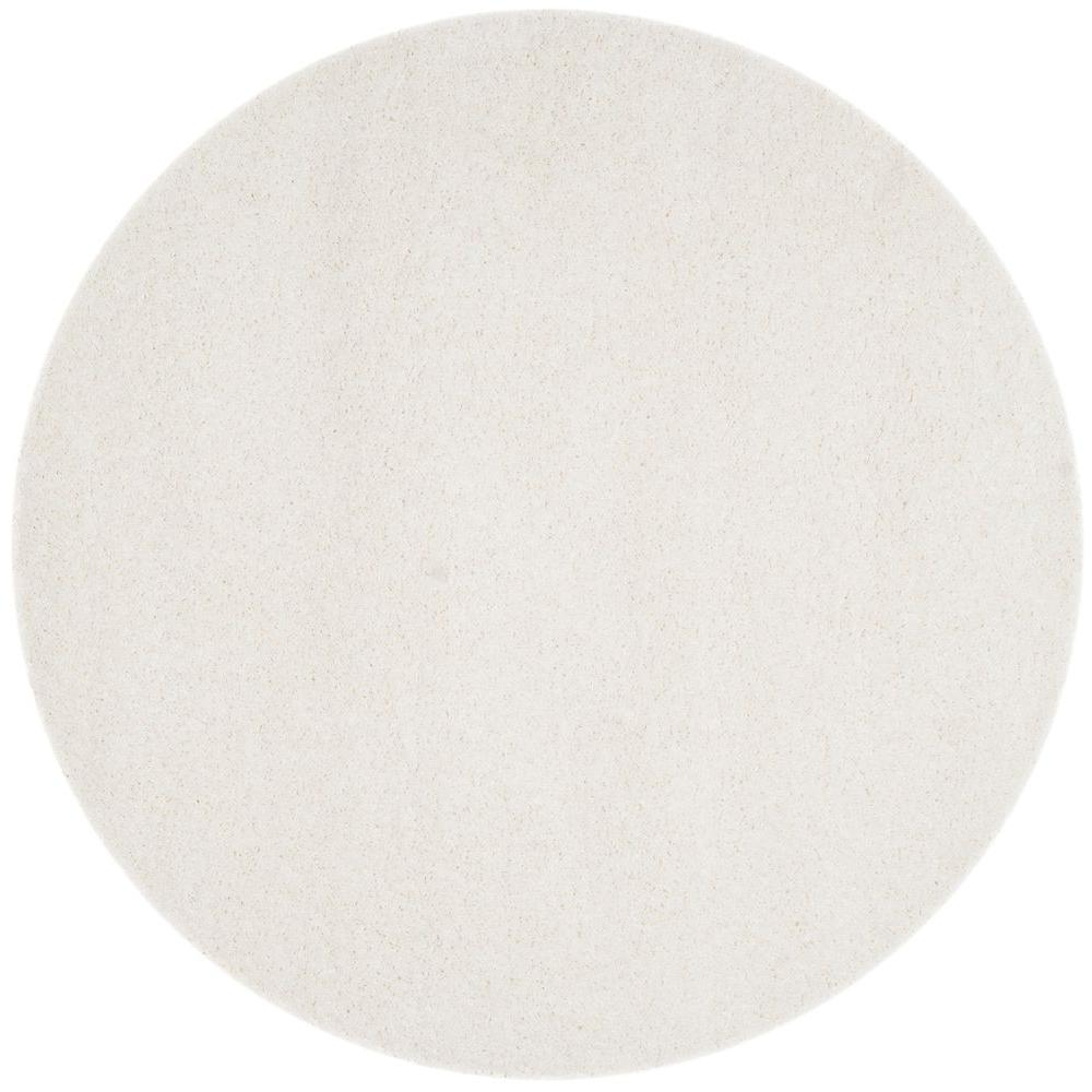 California Shag White 8 ft. 6 in. x 8 ft. 6