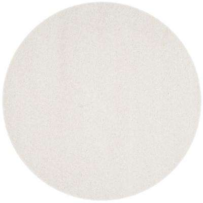 California White 9 Ft X Round Area Rug