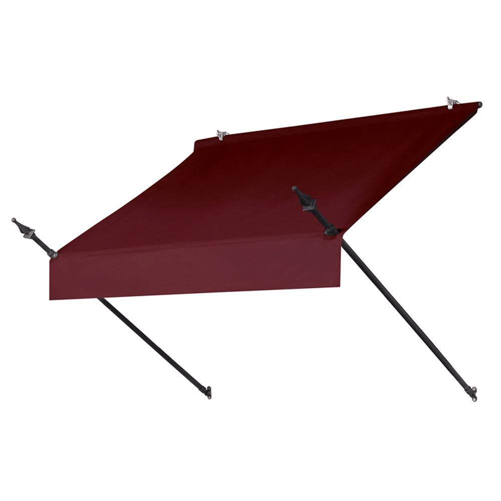 4 ft. Designer Manually Retractable Awning (36.5 in. Projection) in Burgundy