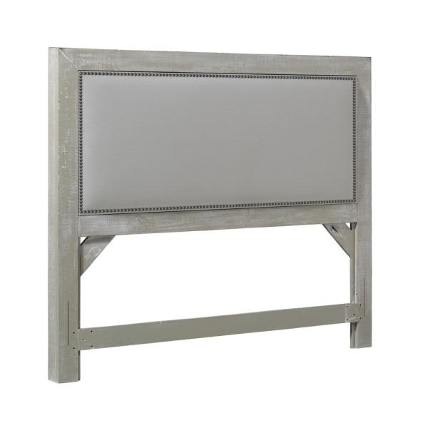 Willow Gray Chalk Queen Upholstered Headboard