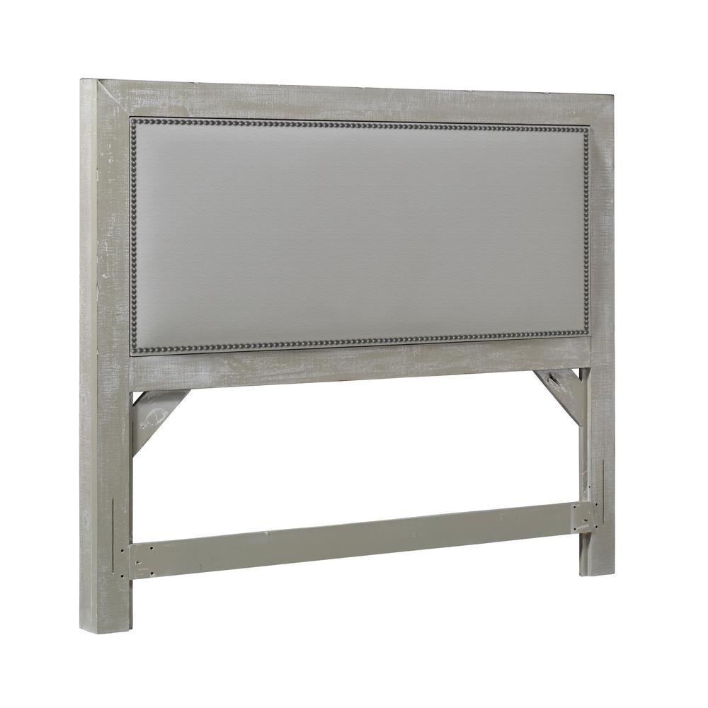Willow Gray Chalk King Upholstered Headboard