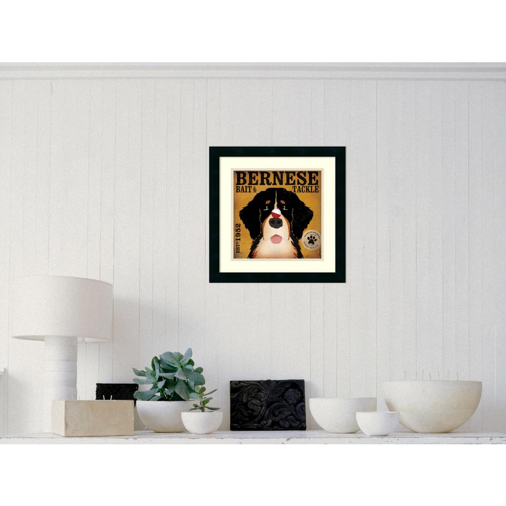 18 in. W x 18 in. H ''Bernese Bait and Tackle'' by Stephen Fowler Framed Art Print