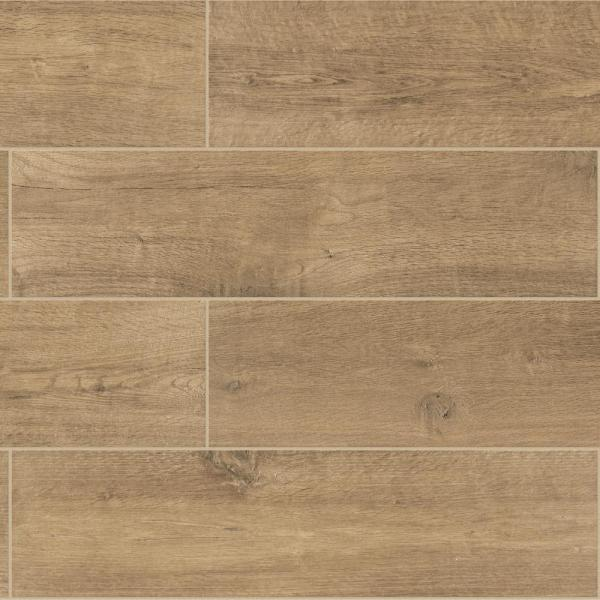 Meadow Wood Smoky Brown 6 in. x 24 in. Glazed Porcelain Floor and Wall Tile (15 sq. ft. / case)