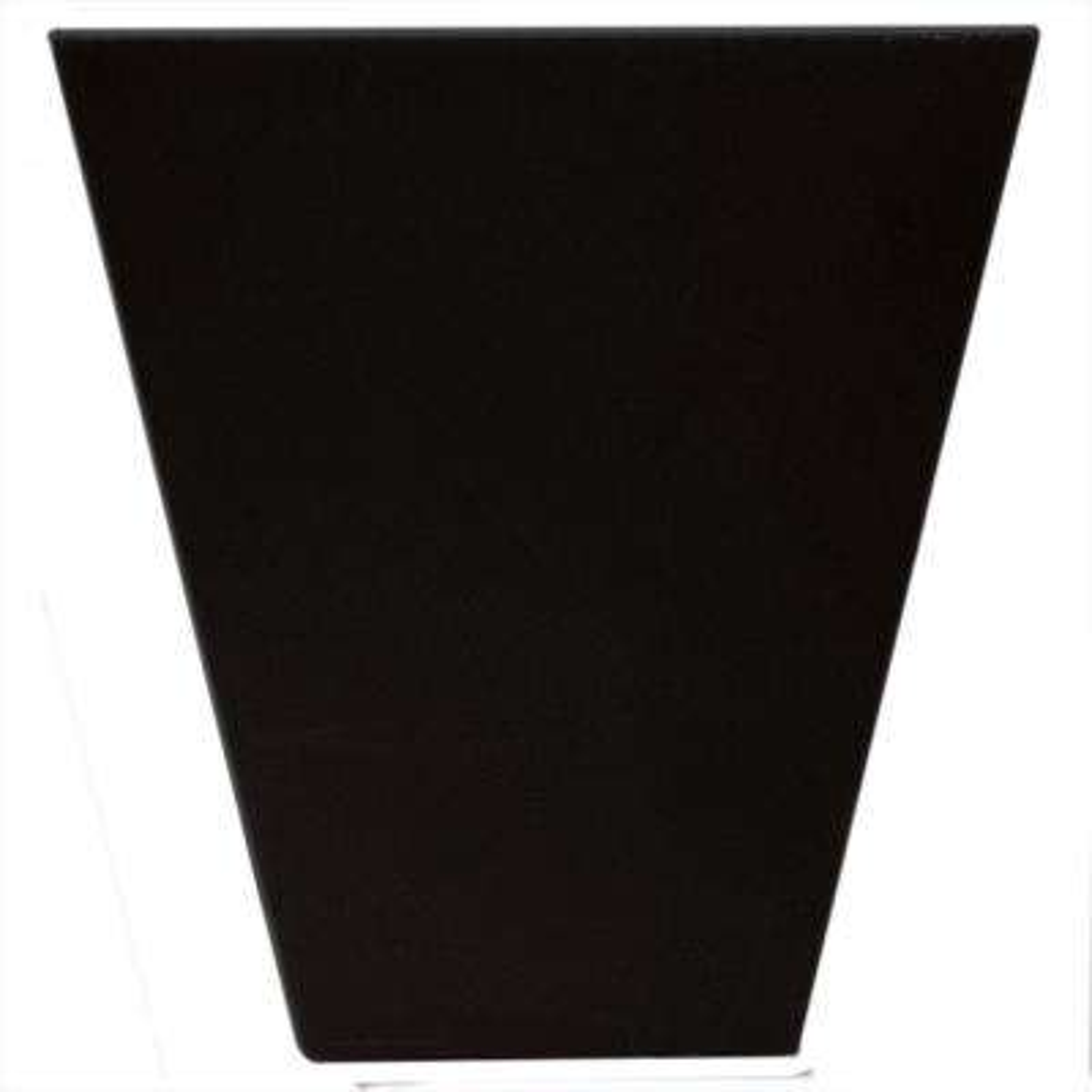 9 in. Flat Panel Window Header Keystone in 002 Black